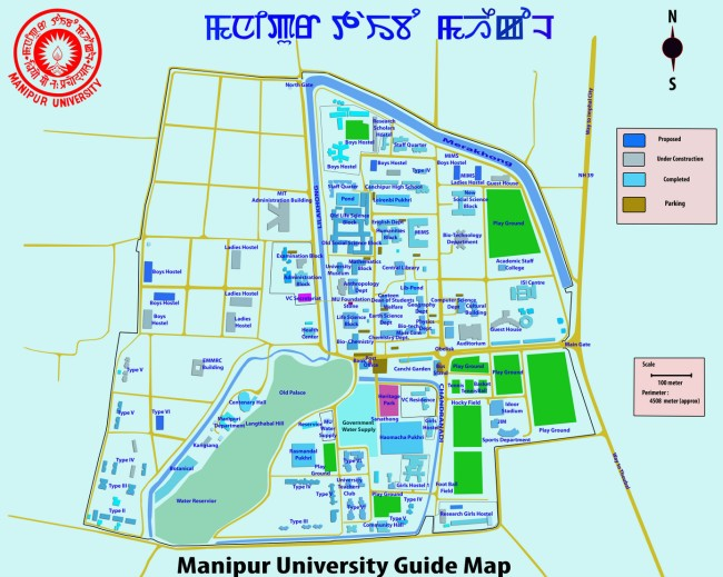 Manipur University Guide Map