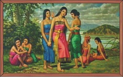 Moirang Thobi and her friend at Loktak Lake