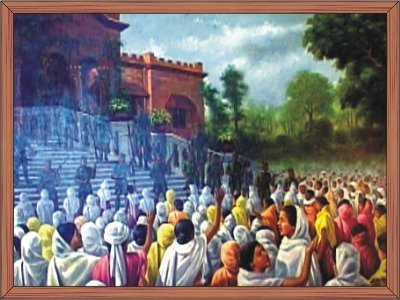 The First Nupi Lal 1904 (Women agitation against british - From a painting from RKCS Art Gallery