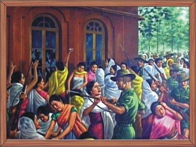 The 2nd Nupi Lal 1939 (Women agitation against British) :: RKCS Painting