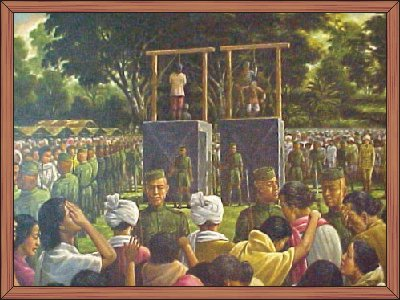 Yuvaraj Tikendrajit and General Thangal on the Gallows
