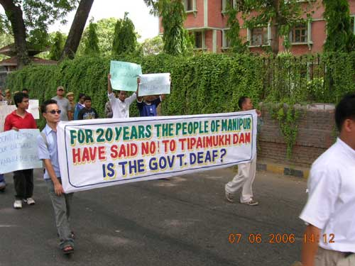 Silent Rally Against The Tipaimuk Dam In New Delhi
