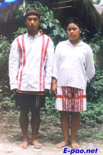 A Veiphei  couple in their traditional attire