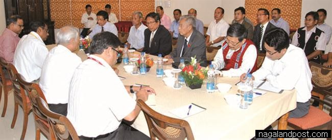 Members of the central team and NSCN (I-M) at the meeting in New Delhi on July 18 2011